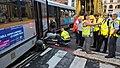 Tram rerailment Barrière de St-Gilles, Brussels 5 Sep 2018.jpg