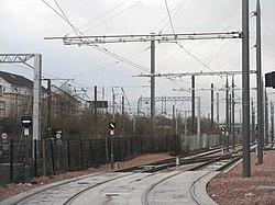Tram signals at Haymarket Yards (geograph 3822332).jpg