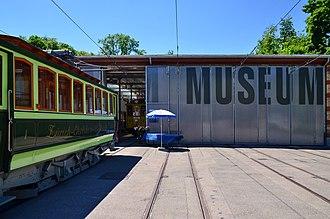 Zürich Tram Museum - Image: Tramdepot (Tram Museum) Burgwies in Zürich Burgwies 2013 06 13 14 02 54