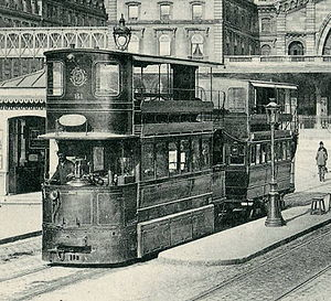 Trams in France - Mékarski compressed-air tram in Paris
