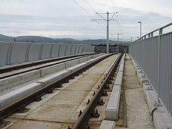 Tramway bridge over the railway (geograph 3765540).jpg