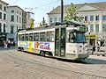 Tramway de Gand - Rame PCC 6219 à Groentenmarkt.JPG