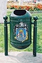 Trash bin on Plaza de Armas.