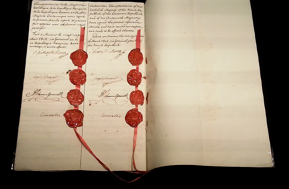 Tratado de Amiens. Fragata Mercedes, exposición 2015. MARQ