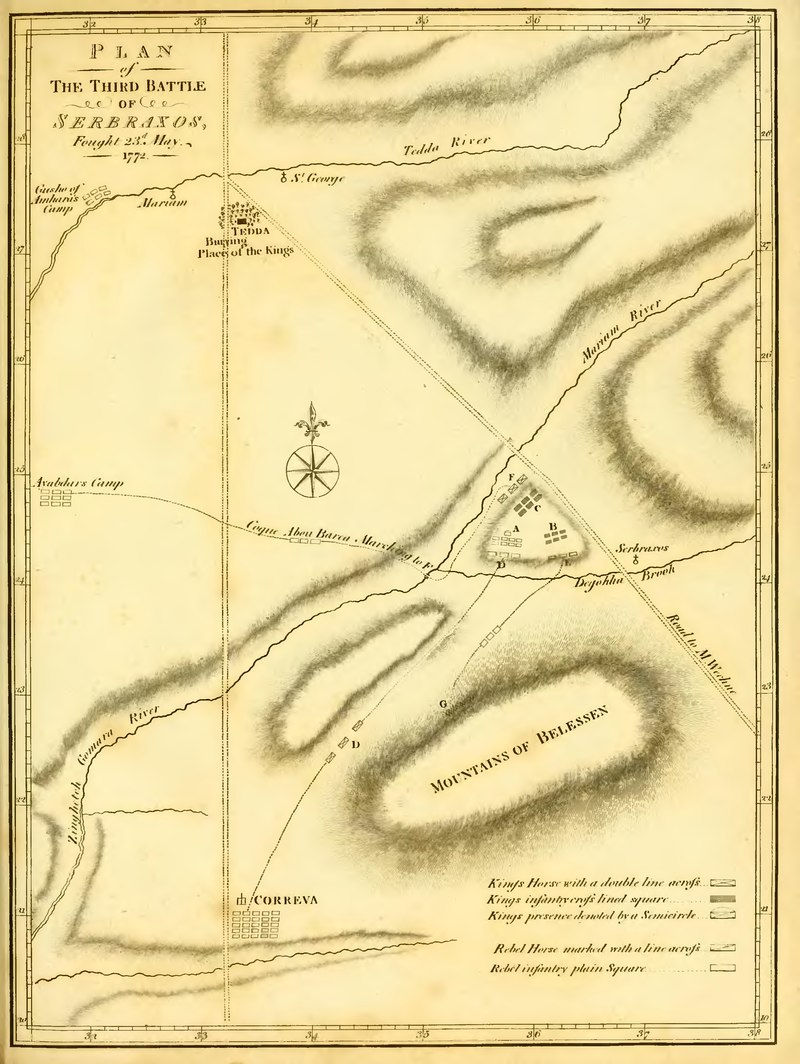 Plan of of The Third Battle of Serbraxos, fought 23d May, 1772
