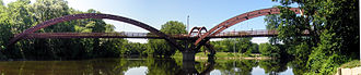 M-20 (Michigan highway) - The Tridge in downtown Midland