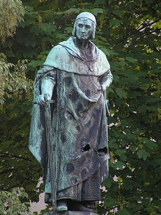 Baldwin of Luxembourg - Baldwin in the Balduinbrunnen, Trier.