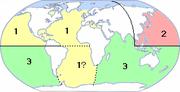 Noms donnés aux cyclones tropicaux par bassin: 1) Ouragan 2) Typhon 3) Cyclone.