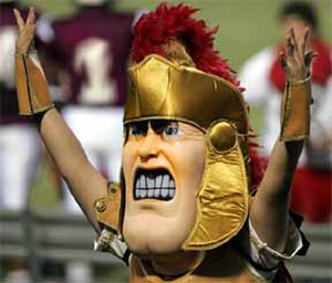 Lake Worth Community High School - Troy Trojan is the school's mascot