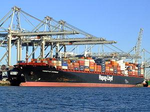 TsingTao Express IMO 9320702, Port of Rotterdam, Holland, 06JAN2009 pic2 07January2009.jpg