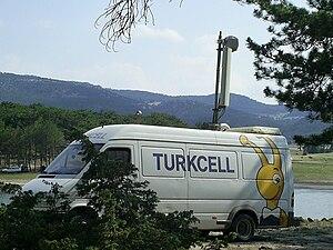 Turkcell - Turkcell mobile base station in Seyitgazi, Kırka, Turkey.