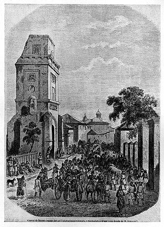 Turnul Colței - Image: Turnul Colţei, mid 19th century