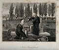 Two women at a Turkish graveyard Wellcome V0050670.jpg
