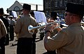 U.S. Navy musicians with the U.S. Naval Forces Europe Band rehearse a song from the mass military band ensemble for the Royal Edinburgh Military Tattoo in Edinburgh, Scotland, July 31, 2012 120731-N-VT117-989.jpg