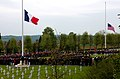 U.S. and French service members participate in a Memorial Day ceremony May 26, 2013, at the Aisne-Marne American Cemetery and Memorial in Belleau, France 130526-M-XI134-014.jpg