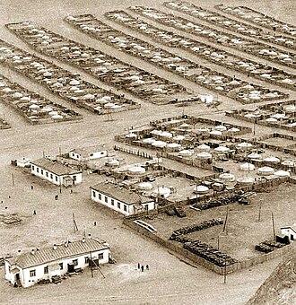 Mongolian People's Republic - Yurt quarter under the Zajsan Hill, Ulaanbaatar, 1972
