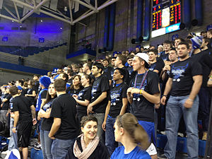 "Buffalo Bulls - True Blue Student Section at a 2012 ""Blackout"" game"