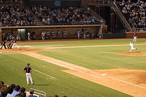 UNC Chapel Hill baseball team playing the Univ...