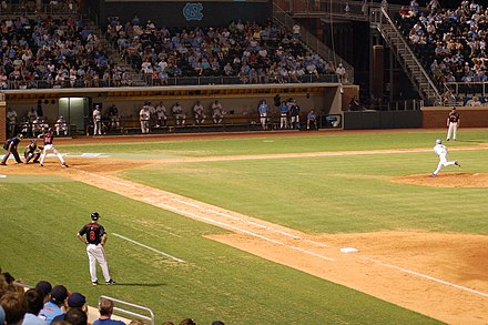 Night game at Boshamer Stadium, 2009 UNCbaseball.JPG