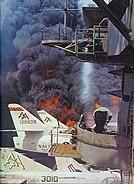 USS Forrestal fire-fighting 1967