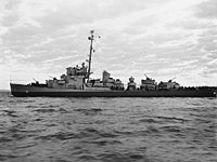 USS Gilmore (DE-18) off the Mare Island Naval Shipyard on 27 February 1945 (NH 53735).jpg