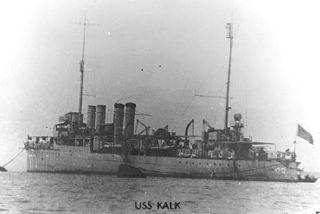 USS <i>Kalk</i> (DD-170) Wickes-class destroyer