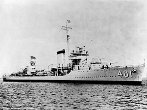 USS Maury (DD-401) as completed, in mid-1938 (NH 42150)