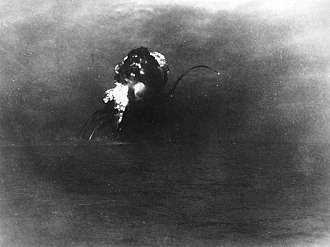 USS Princeton (CVL-23) - USS Princeton explodes after being torpedoed by USS Reno