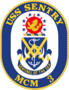 USS Sentry MCM-3 Crest.png