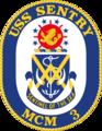 USS Sentry MCM-3 Crest.png
