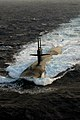 US Navy 040712-N-0119G-011 he Los Angeles-class submarine USS Albuquerque (SSN 706) surfaces in the Atlantic Ocean while participating in Majestic Eagle 2004.jpg