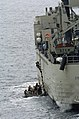 US Navy 040720-N-1464F-009 A boarding team from USS Thomas S. Gates (CG 51) boards a foreign ship during Pacific Phase exercises of UNITAS 45-04.jpg
