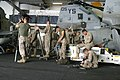 US Navy 050421-M-5900L-006 Marines assigned to mortar platoon, Weapons Company, Battalion Landing Team 2nd Bn., 8th Marines, 26th Marine Expeditionary Unit (MEU) (special operations capable) clean and inspect the M252 81mm mort.jpg