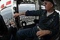 US Navy 050519-N-1332Y-045 Commanding Officer, USS Kitty Hawk (CV 63), Capt. Thomas Parker, monitors the distance between USS Kitty Hawk (CV 63) and USNS Tippecanoe (T-AO 199).jpg