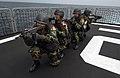 US Navy 050812-F-4883S-127 A group of Peruvian Navy special warfare operators practice maritime interdiction operation drills on the Peruvian frigate BAP Villavicencio (FM 52) during PANAMAX 2005.jpg