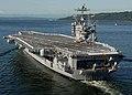 US Navy 070530-N-5384B-031 Sailors man the rails as Nimitz-class aircraft carrier USS Abraham Lincoln (CVN 72) pulls into her homeport at Naval Station Everett.jpg