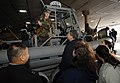 US Navy 071117-N-4308O-001 Master-at-Arms 3rd Class Jonathan Brown from Mobile Security Squadron 2 speaks to people visiting the High Speed Vessel (HSV) 2 Swift about his career in the Navy.jpg