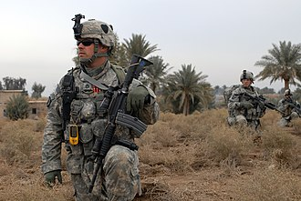 Take point - U.S. Army Soldiers from Charlie Company, 2nd Battalion, 502 Infantry Regiment, 101st Airborne Division, take point during an operation in south Baghdad