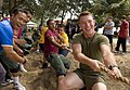 US Navy 090625-N-1722M-300 Lance Cpl. Andrew Zagrocki, front, assigned to the 4th Assault Amphibian Battalion, and Malaysian Army Pvt. Amd Azrol, pull their way to victory in a tug-of-war.jpg