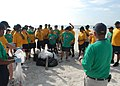 US Navy 090716-N-0486G-002 Sailors from the guided-missile destroyer USS The Sullivans (DDG 68), and civilians participated in Naval Station Mayport's mid-summer beach front clean up.jpg