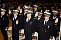 US Navy 100212-N-0000K-002 Officer candidates take the oath of office during a commissioning ceremony following graduation from Officer Candidate School at Naval Station Newport.jpg