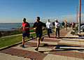US Navy 100509-N-9301W-646 Sailors embarked aboard USS Klakring (FFG 42) participate in a 5-kilometer run during a port visit in Montevideo, Uruguay.jpg