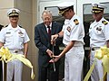 US Navy 100930-N-1409O-068 Capt. Bryant Fuller III, left, Rear Adm. Jeremiah Denton Jr. (Ret), Rear Adm. (Sel) Michael White and Capt. Peter Jeffer.jpg