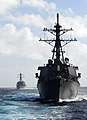 US Navy 101113-N-3666S-089 The guided-missile destroyers USS Paul Hamilton (DDG 60) and USS Chung-Hoon (DDG 93) perform shipboard maneuvers during.jpg