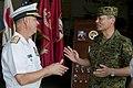 US Navy 110713-N-ER662-111 Rear Adm. Scott Jones discusses ship operations with Japan Self-Defense Force officers.jpg