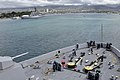 US Navy 110920-N-GW695-048 The amphibious transport dock ship USS Green Bay (LPD 20) transits past USS Missouri (BB 63) and the USS Arizona Memoria.jpg