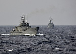 US Navy 110922-N-RI844-011 Bangladesh Navy ships fall in behind the Bangladesh navy frigate BNS Bangabandhu (F 25) during exercises with the U.S. N.jpg