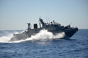 Mark VI patrol boat - Image: US Navy Coastal Riverine Group 1 Coastal Command Boat off San Diego 2013