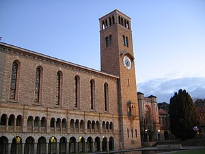 Winthrop Hall at sunset, University of Western...
