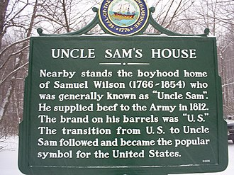 Mason, New Hampshire - Sign for Uncle Sam's house